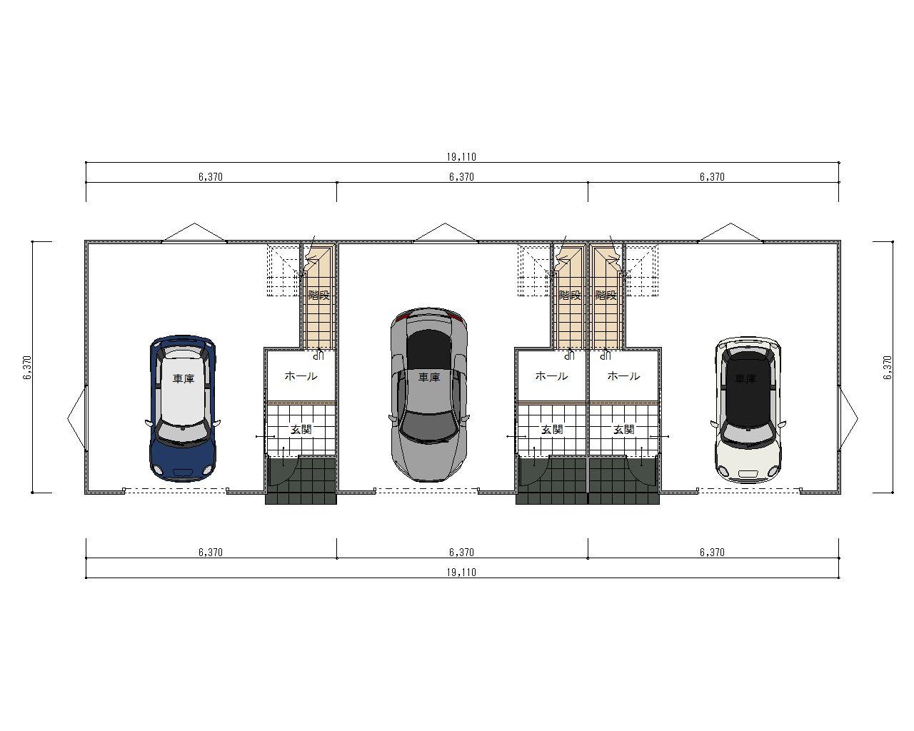 ESPRSSOガレージハウス西尾一色町  1階平面図