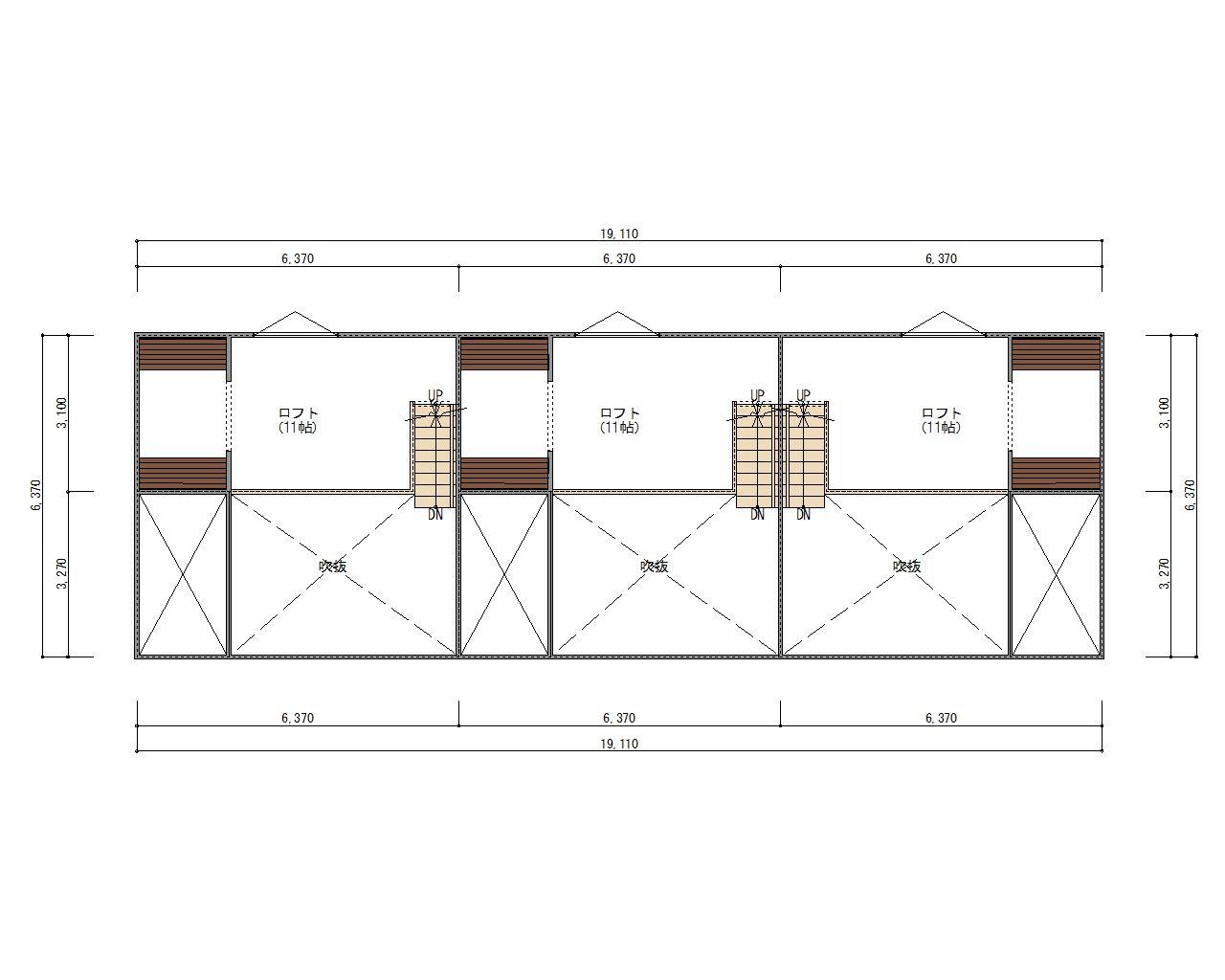 ESPRSSOガレージハウス西尾一色町  2階ロフト平面図