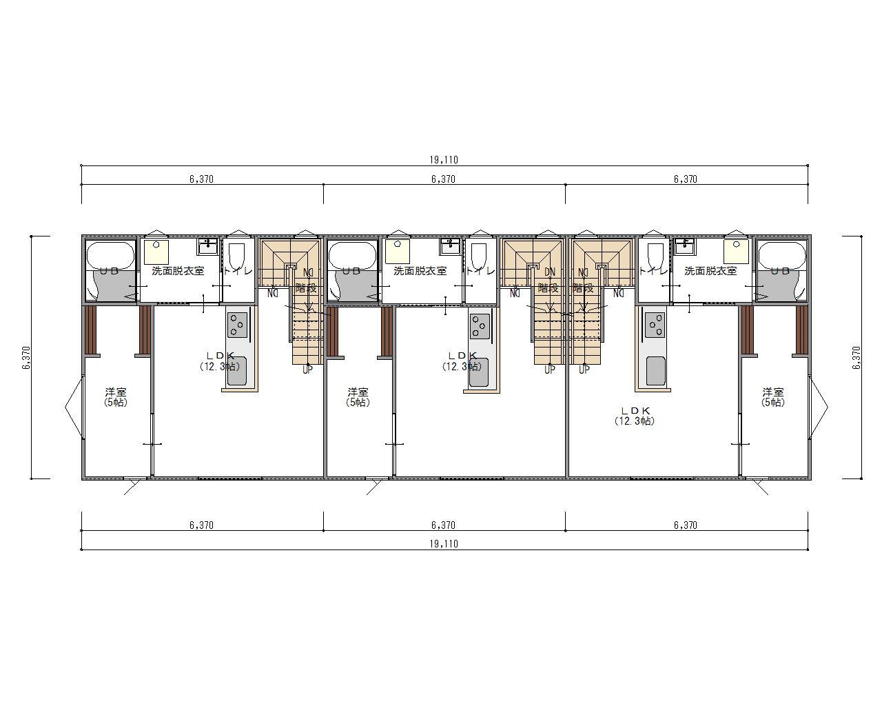 ESPRSSOガレージハウス西尾一色町  2階 平面図