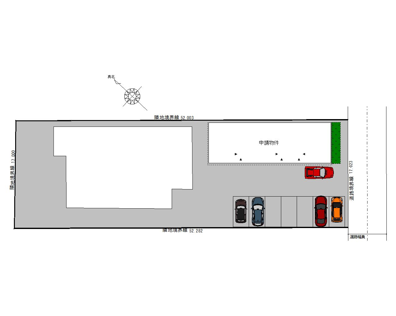 ESPRSSOガレージハウス西尾一色町 配置図