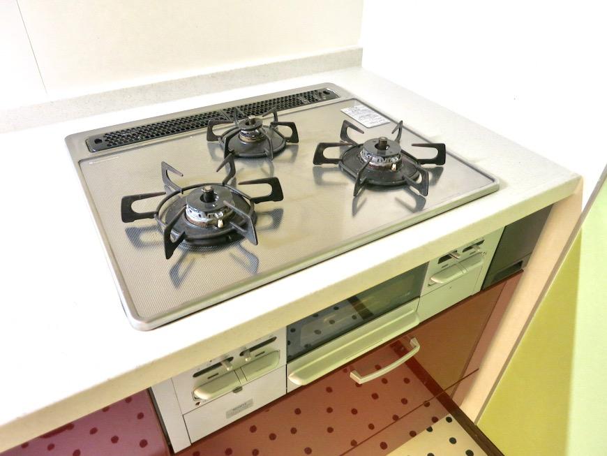 1F キッチン 和洋折衷 広い和室とチャーリーブラウン オフィス・ペット可 城主町貸家3