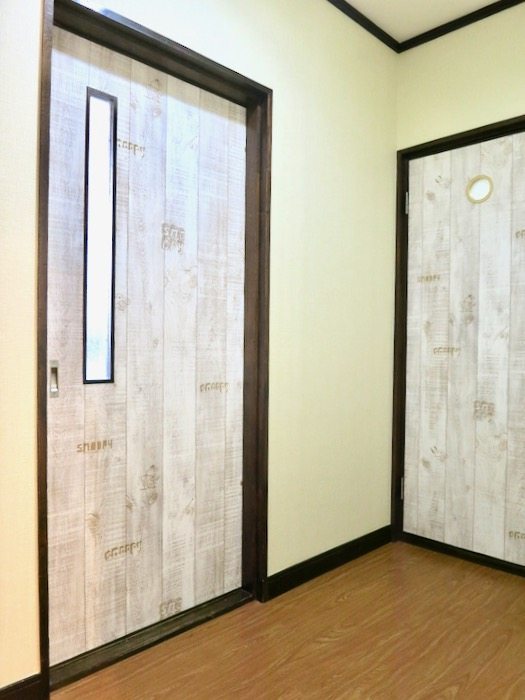 1F サニタリー&バストイレ。 和洋折衷 広い和室とスヌーピー オフィス・ペット可 城主町貸家1