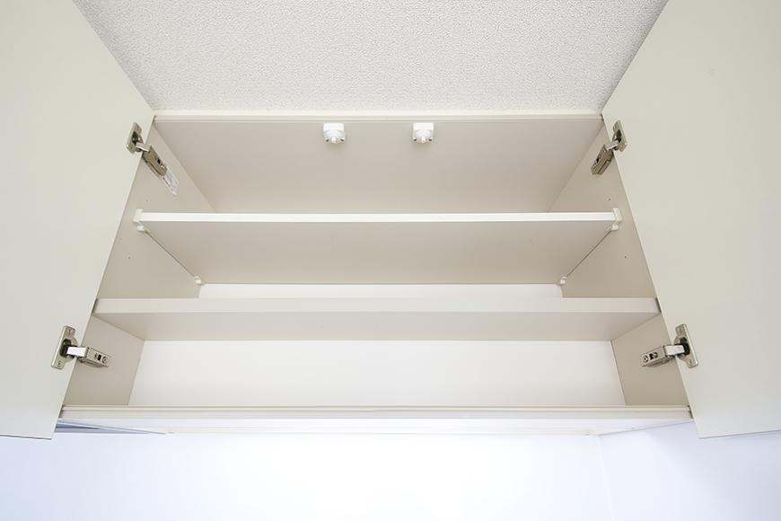 【ミュプレ矢場町】1103号室_LDK_キッチン周り_頭上の収納_MG_0384