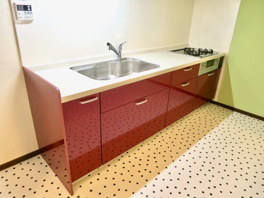 1F キッチン 和洋折衷 広い和室とチャーリーブラウン オフィス・ペット可 城主町貸家4