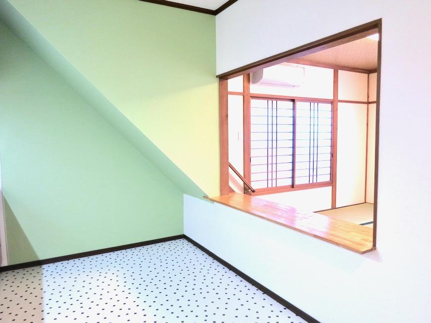 1F キッチン 和洋折衷 広い和室とチャーリーブラウン オフィス・ペット可 城主町貸家11
