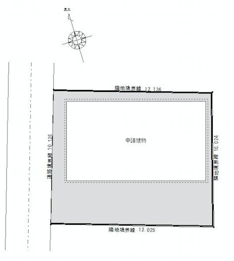 ESPRESSOガレージハウス千種_敷地配置図