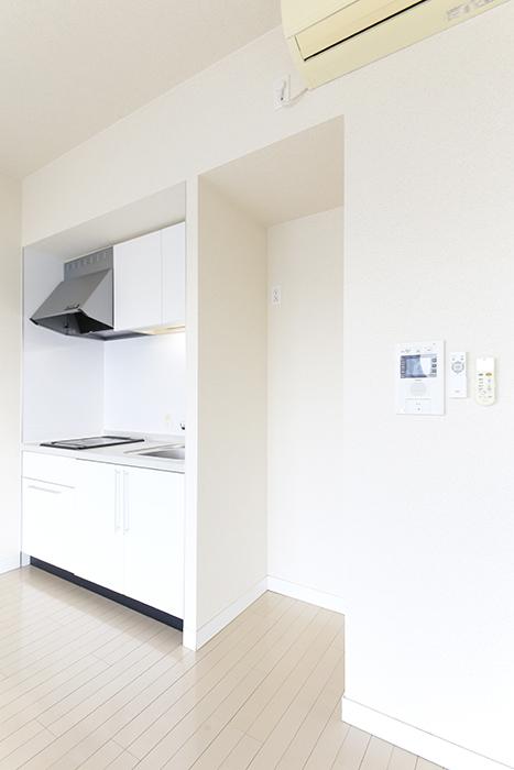 【ミュプレ矢場町】1103号室_LDK_キッチン周り_冷蔵庫置き場_MG_0354
