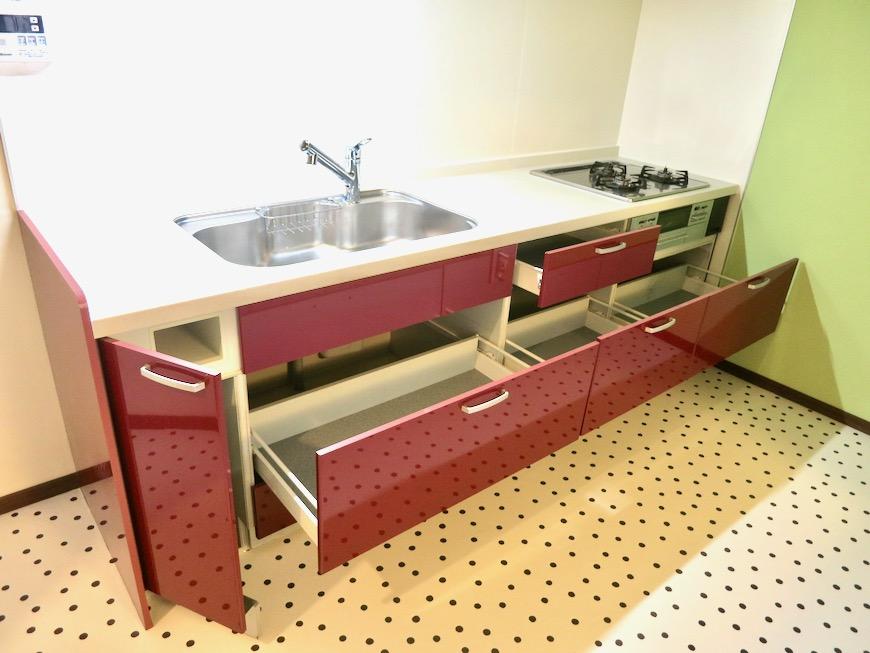 1F キッチン 和洋折衷 広い和室とチャーリーブラウン オフィス・ペット可 城主町貸家9
