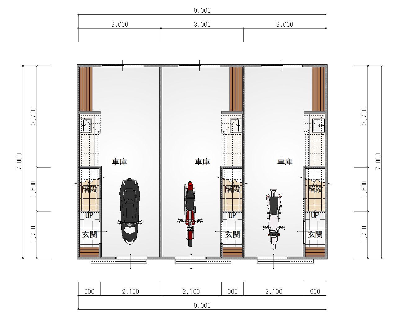 ESPRSSOガレージハウス千種 1階 平面図