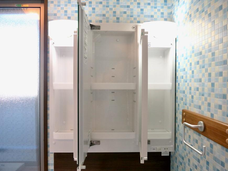 1F サニタリー&バストイレ。 和洋折衷 広い和室とスヌーピー オフィス・ペット可 城主町貸家10