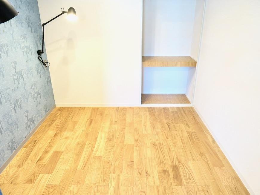 4.1帖のベットコーナー 北欧スタイルのお部屋。 川原ロイヤルハイツ3B6