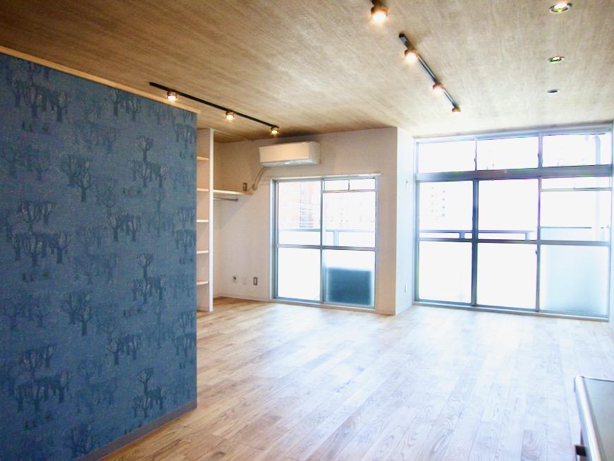 北欧スタイルのお部屋。 川原ロイヤルハイツ3B0