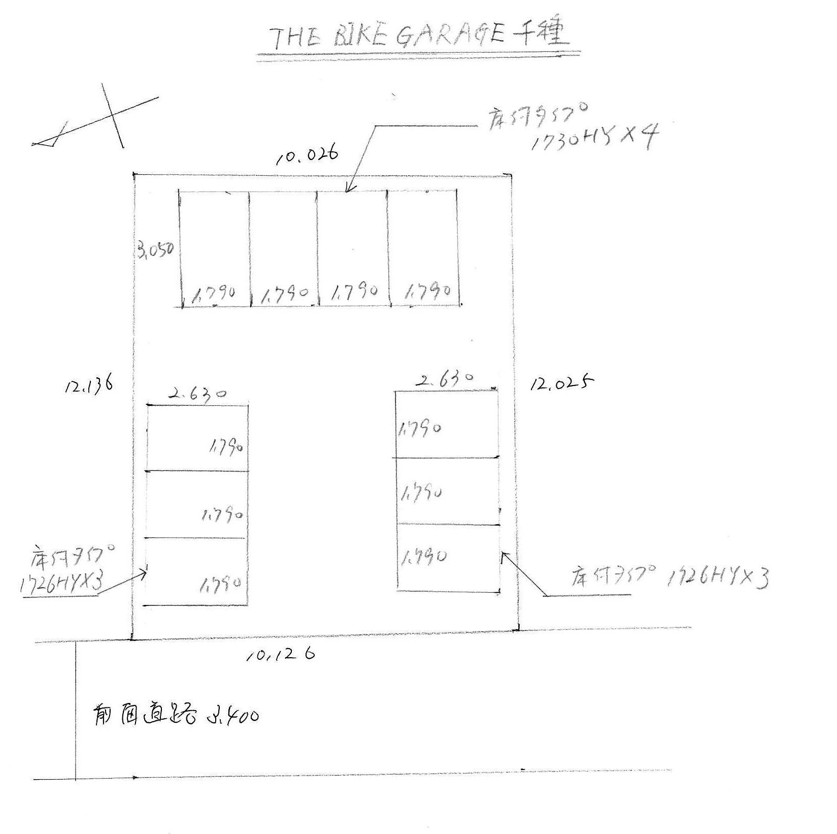 THE-BIKE-GARAGE-千種_敷地配置図