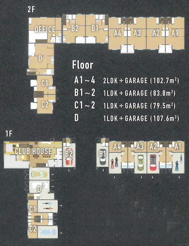 八ヶ岳ガレージハウス-_平面図