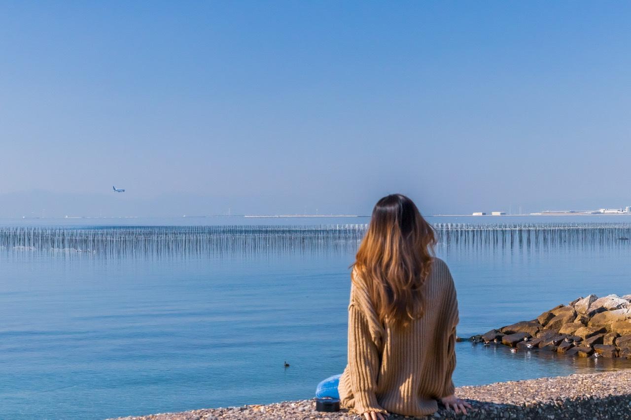中部国際空港が目の前の海