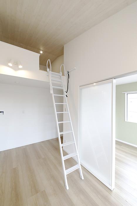 【Mon espace(モンエスパス)】A号室_2階_LDK_ロフトへの階段_MG_9680