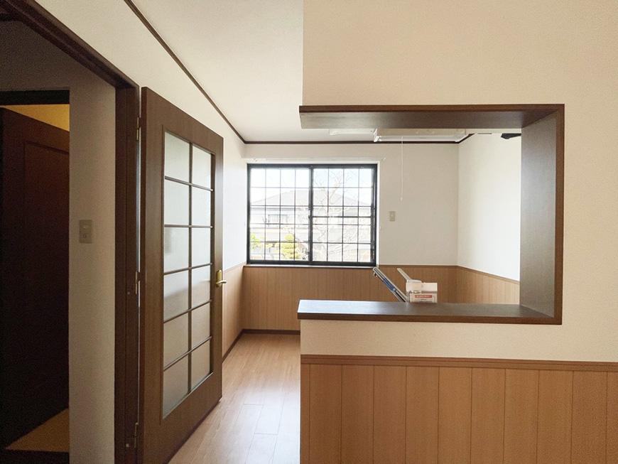 シャーウッド87_キッチンの格子窓