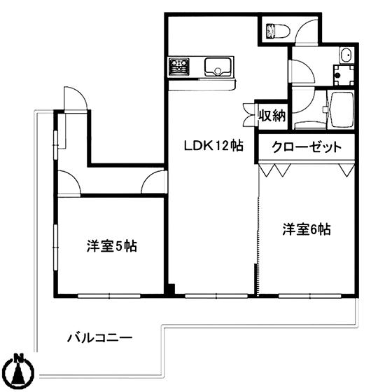 泉ロイヤルビル6B_間取図