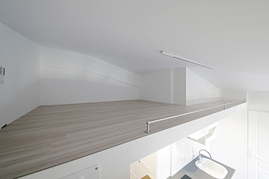 """""""屋根裏部屋(ロフト)""""スペースです。お部屋によって形や広さは異なります。_MG_6635"""