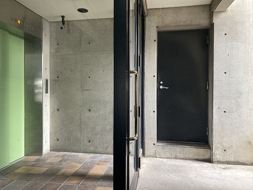 A2ビル 裏口エレベーター