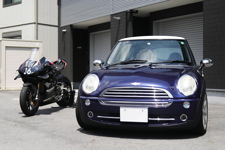 【ガレリア勝川】_ガレージ前のバイク・車_イメージ_MG_8849