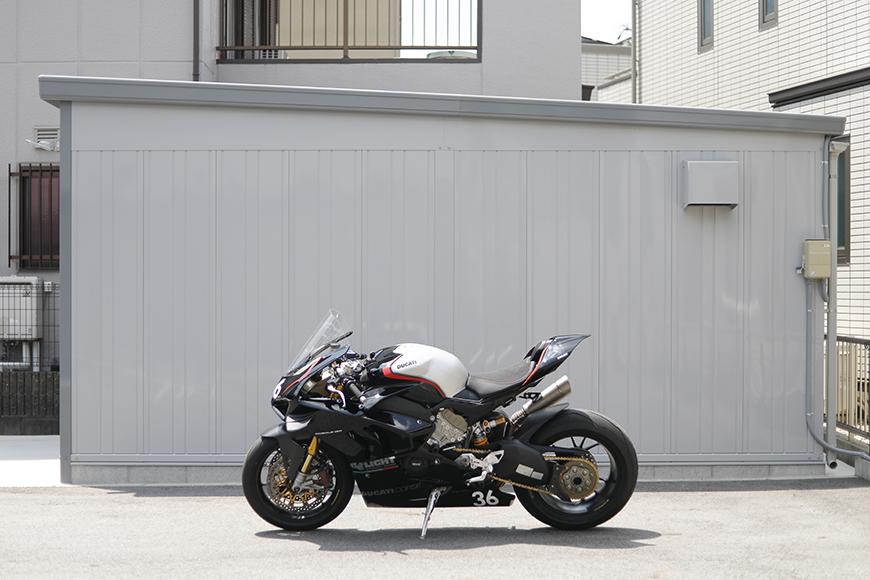 【ガレリア勝川】A号室_ガレージサイズイメージ_バイクの場合_MG_8853